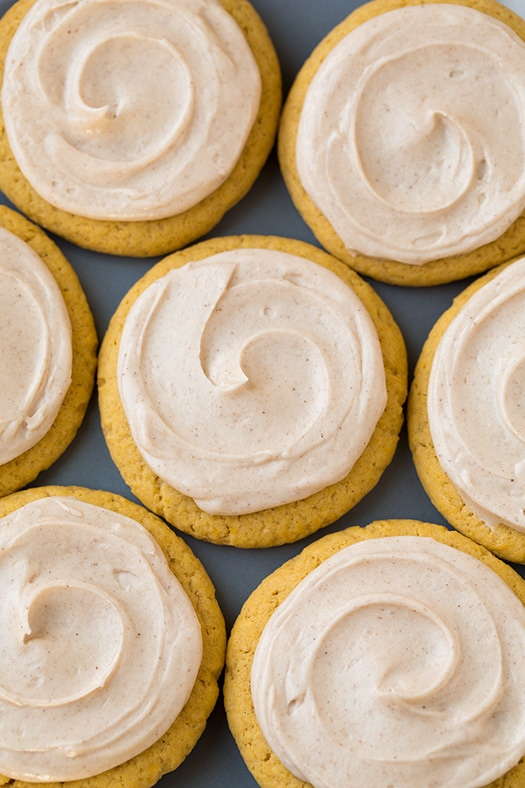 Pumpkin Sugar Cookies with Cinnamon Cream Cheese Frosting | Cooking Classy
