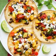 Roasted Veggie and Black Bean Tacos | Cooking Classy