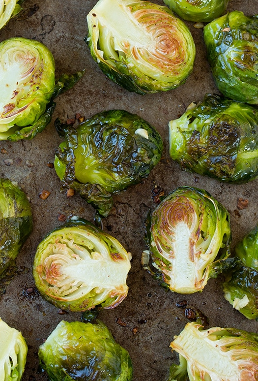 Lemon Parmesan Roasted Brussels Sprouts Recipe — Dishmaps