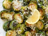 Garlic Lemon and Parmesan Roasted Brussel Sprouts