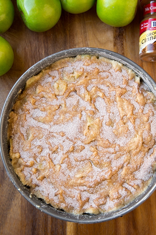 Irish Apple Cake with Custard Sauce | Cooking Classy