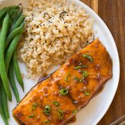 Maple Soy Glazed Salmon (only 4 ingredients!) | Cooking Classy