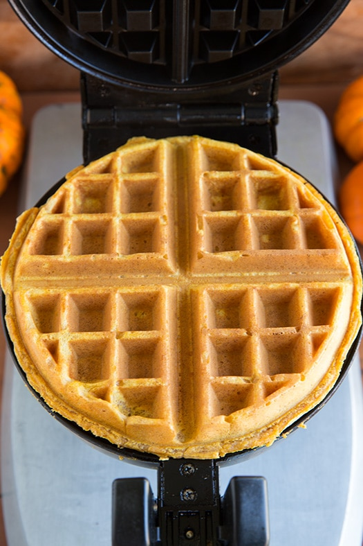 Pumpkin Waffles and Apple Cider Syrup | Cooking Classy