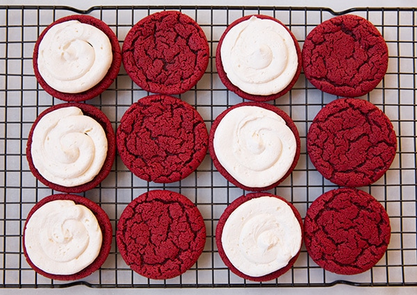 Red Velvet Oreos from Red Velvet Lover's Cookbook| Cooking Classy