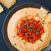 Roasted Red Pepper Hummus | Cooking Classy