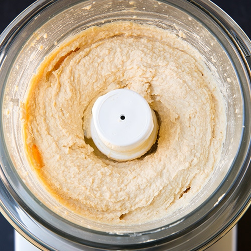 hummus in a food processor