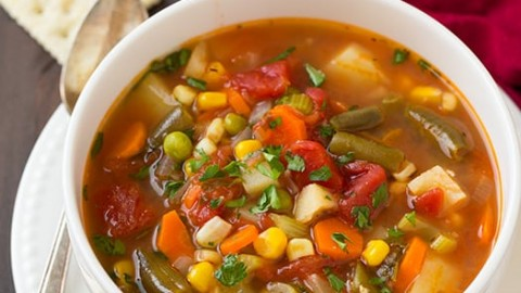 vegetable soup cooking classy