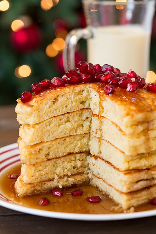 Eggnog Pancakes | Cooking Classy