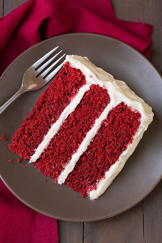 Red Velvet Cake And Cream Cheese Frosting