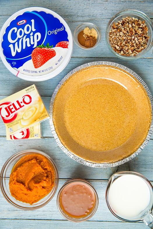 Turtle Pumpkin Pie {No Bake!} | Cooking Classy