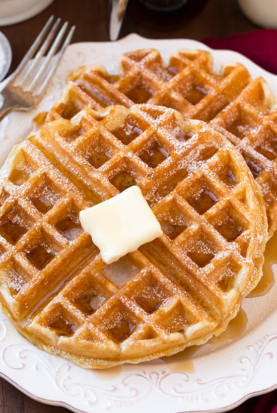 Belgian Waffles Recipe — Dishmaps