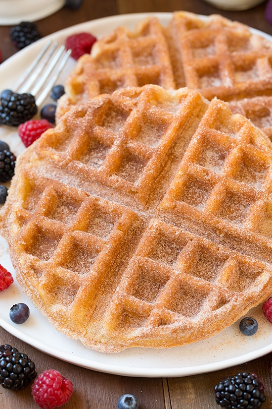 Churro Waffles | Cooking Classy