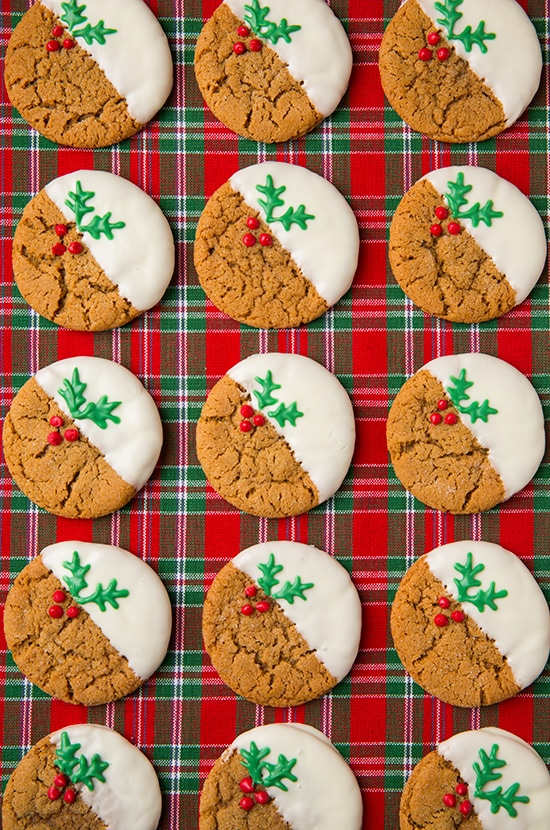 White Chocolate Dipped Ginger Cookies | Cooking Classy