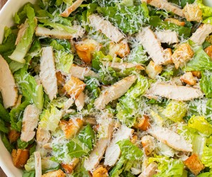 Chicken Caesar Salad with Light Caesar Dressing | Cooking Classy