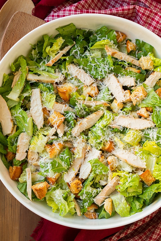 Chicken Caesar Salad Homemade Dressing Cooking Classy