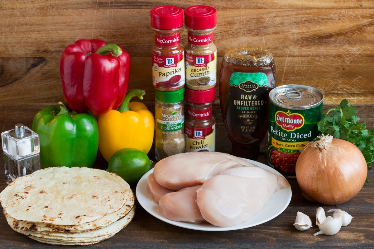 Crockpot Chicken Fajita Ingredients