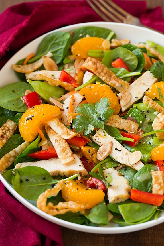 Asian chicken salad with mandarin oranges