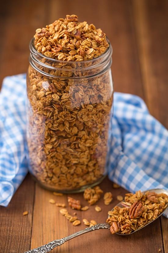Maple Pecan Granola Recipe — Dishmaps
