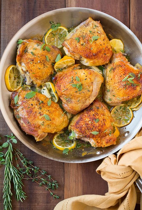 Roasted Lemon Garlic Herb Chicken | Cooking Classy