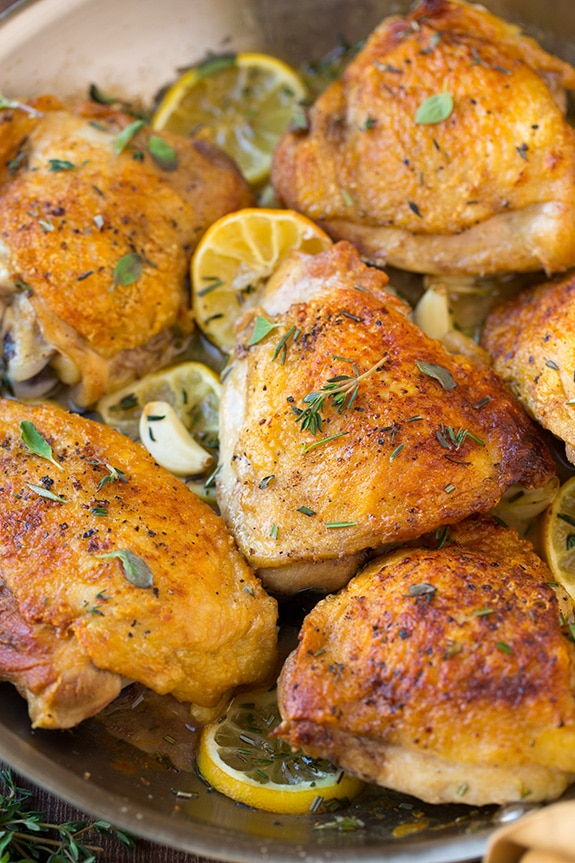 Roasted Lemon Garlic Herb Chicken | Cooking Classy