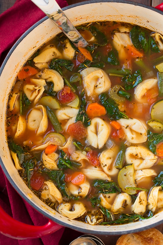 Tuscan Tortellini Vegetable Soup | Cooking Classy