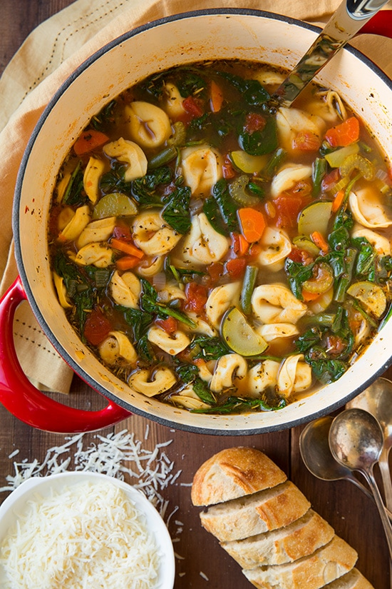 Tuscan Tortellini Vegetable Soup Cooking Classy