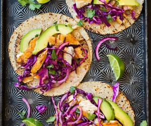 Grilled Fish Tacos with Red Cabbage Slaw   Cooking Classy