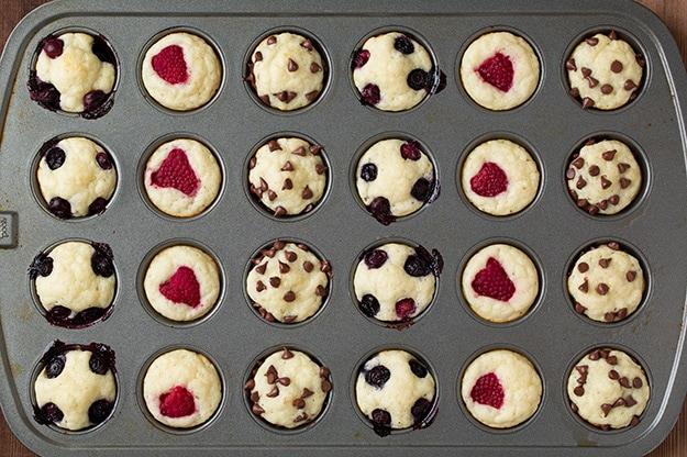 Mini Pancake Muffins in muffin tin