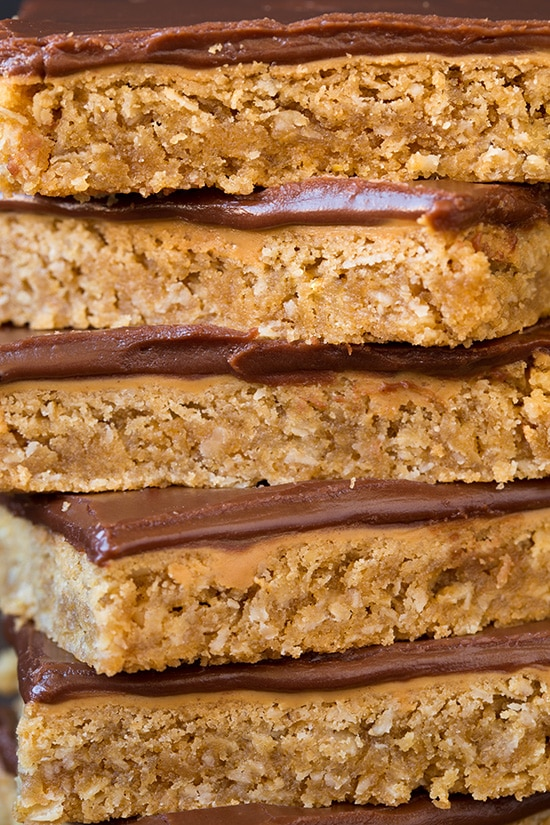 Chocolate Frosted Peanut Butter Bars   Cooking Classy