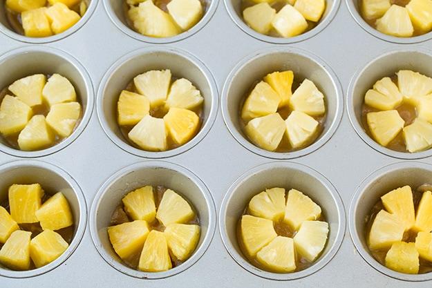 Added Pineapple to Cupcake Pan