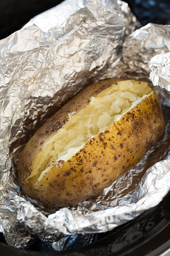 "Slow Cooker ""Baked"" Potatoes - Cooking Classy"