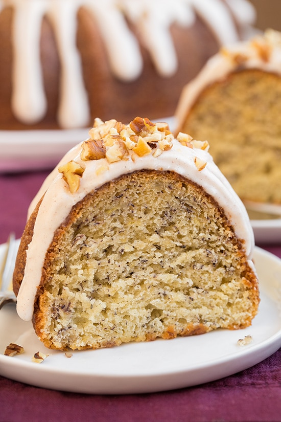 Banana Bundt Cake with Cinnamon Cream Cheese Icing | Cooking Classy