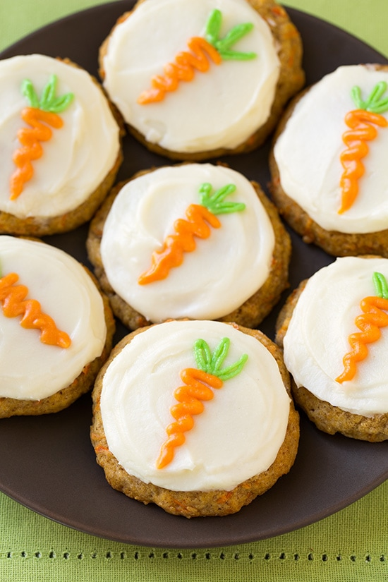 Carrot Cake Cookies with Cream Cheese Frosting | Cooking Classy