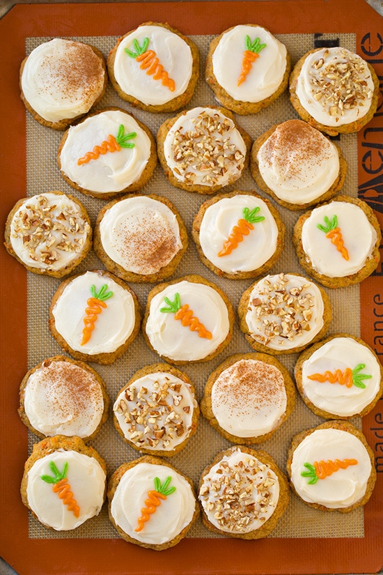 Carrot Cake Cookies With Cream Cheese Frosting Cooking