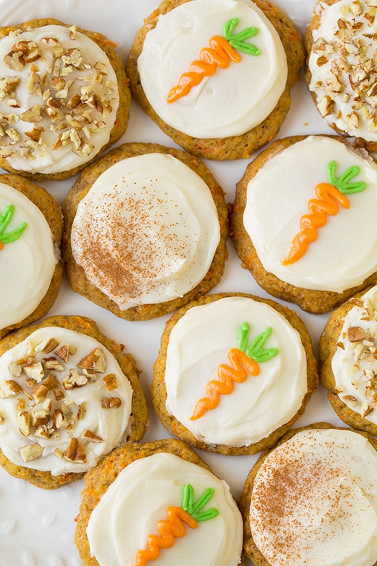 Carrot Cake Cookies with Cream Cheese Frosting - Cooking ...