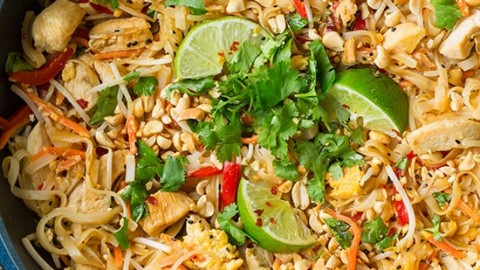Chicken pad thai cooking classy forumfinder Image collections