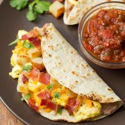 Breakfast Tacos with Fire Roasted Tomato Salsa | Cooking Classy