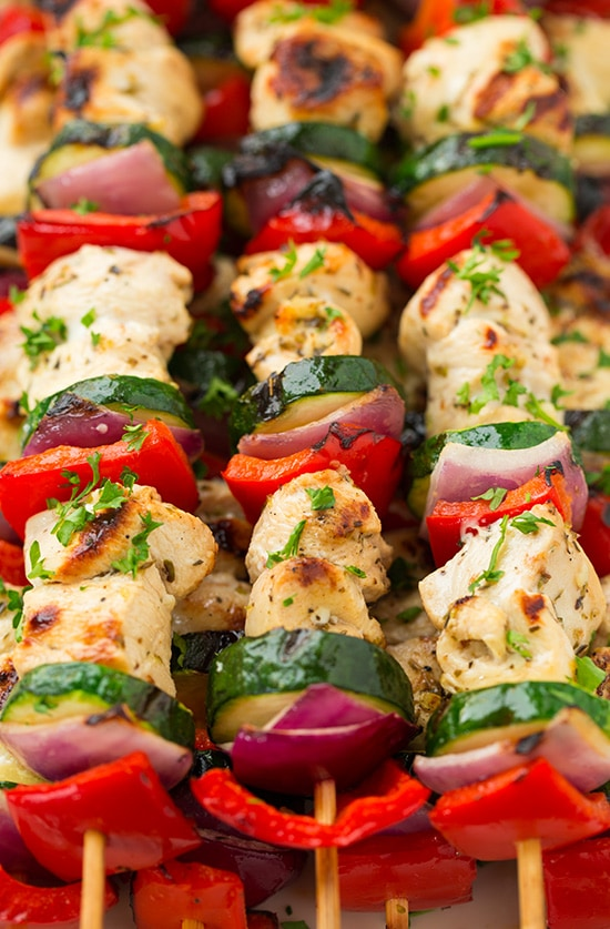 Greek Chicken Kebabs with Tzatziki   Cooking Classy