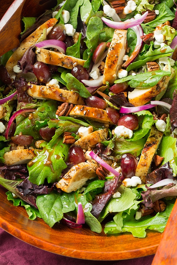 Grilled Chicken and Grape Spring Salad with Goat Cheese and Honey ...