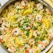 Lemon-Parmesan Angel Hair Pasta with Shrimp | Cooking Classy