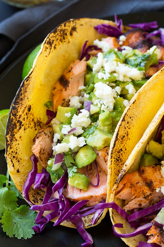 Salmon Tacos with Avocado Salsa | Cooking Classy