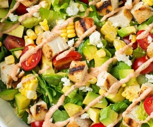 Avocado and Grilled Chicken Chopped Salad with Chipotle-Lime Ranch | Cooking Classy