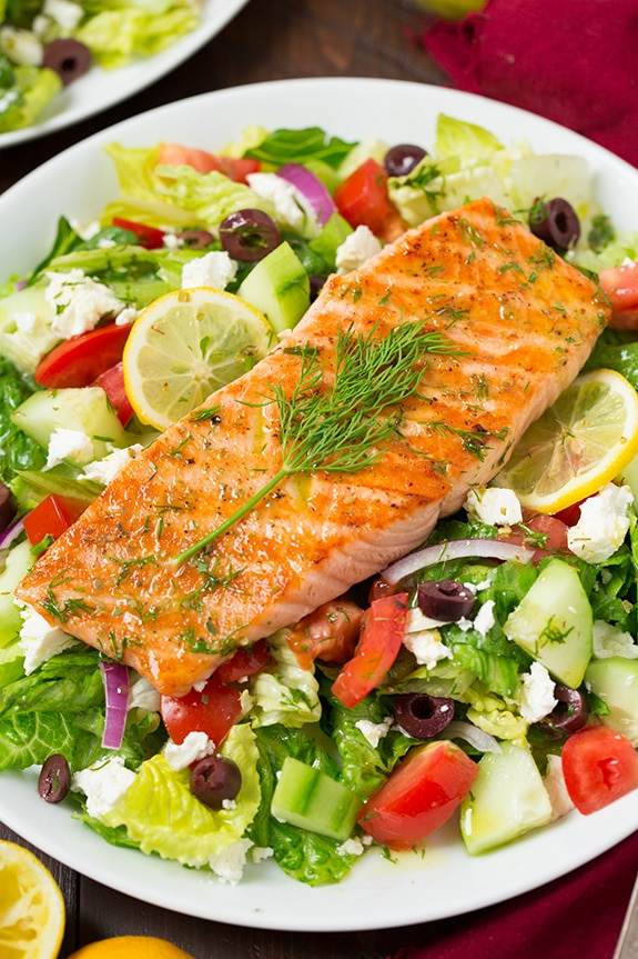 Greek Salmon Salad - Cooking Classy