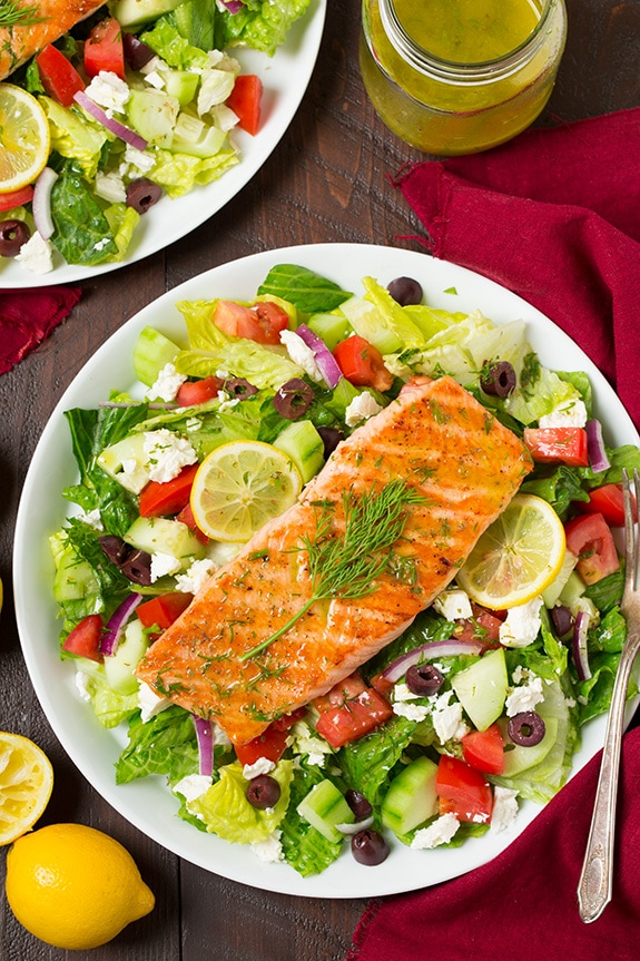 Greek Salmon Salad Cooking Classy