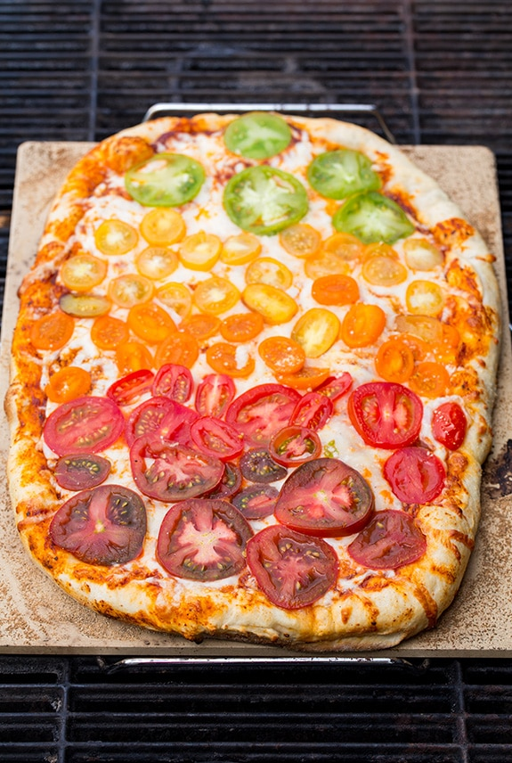 Grilled Rainbow Tomato Pizza | Cooking Classy