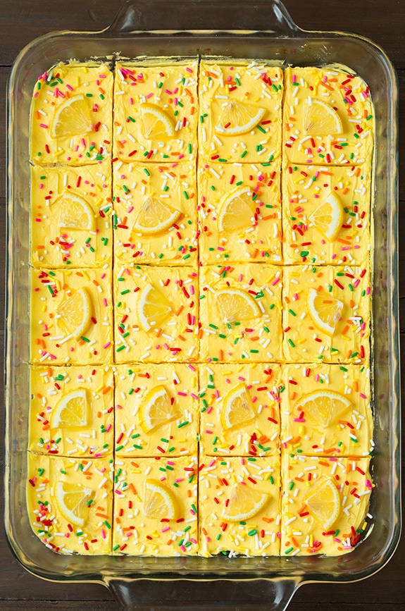 Lemon Sugar Cookie Bars | Cooking Classy