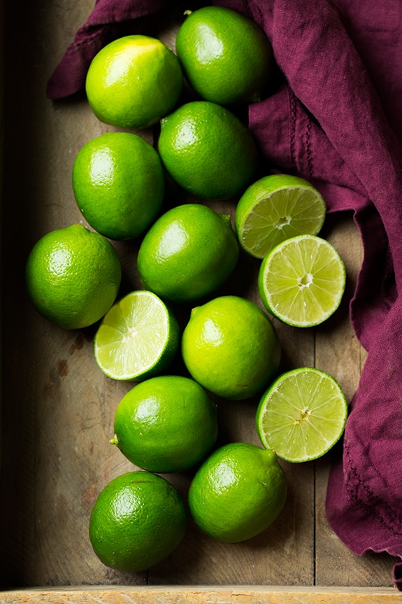 Limes set aside for making limeade