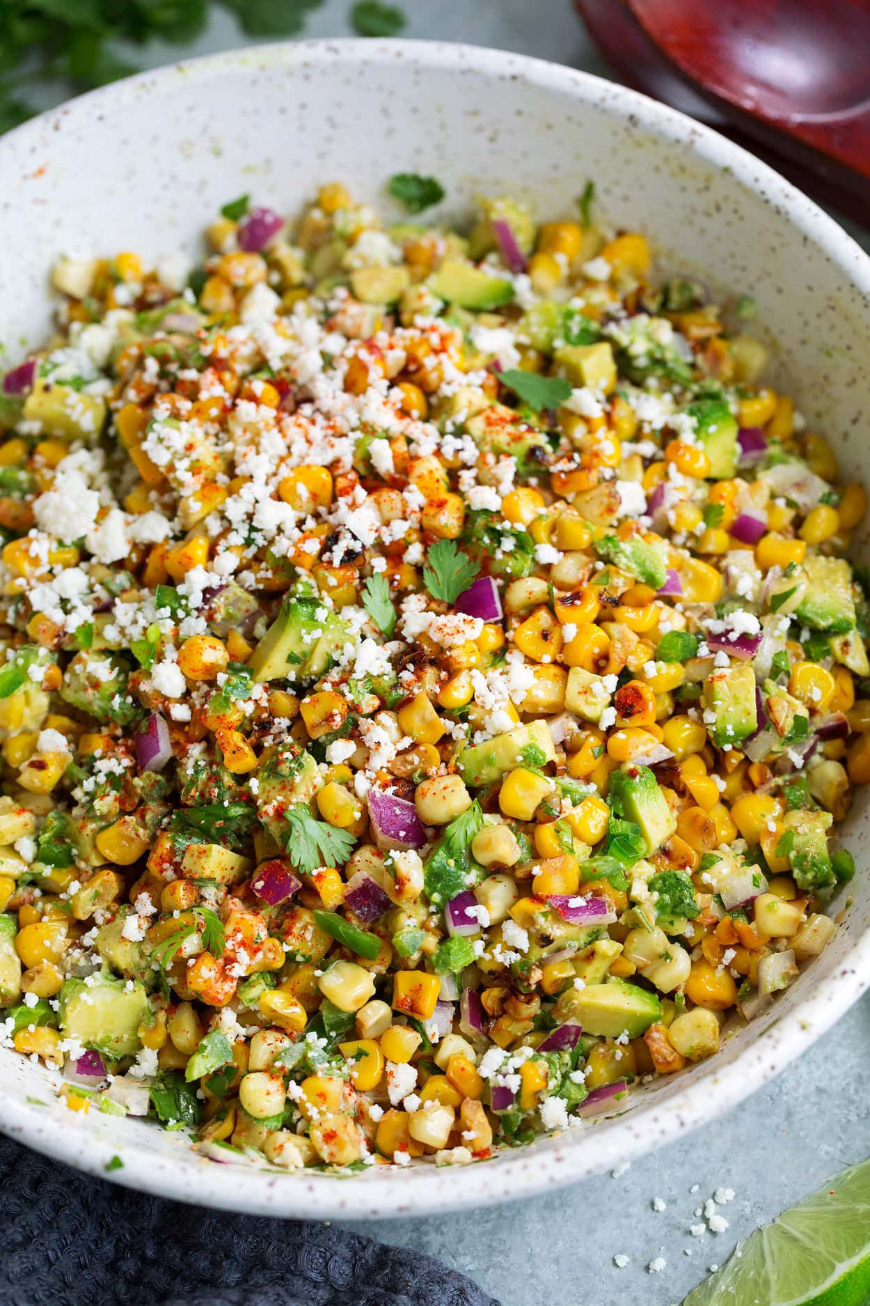 Mexican Street Corn Salad {with Avocado} - Cooking Classy