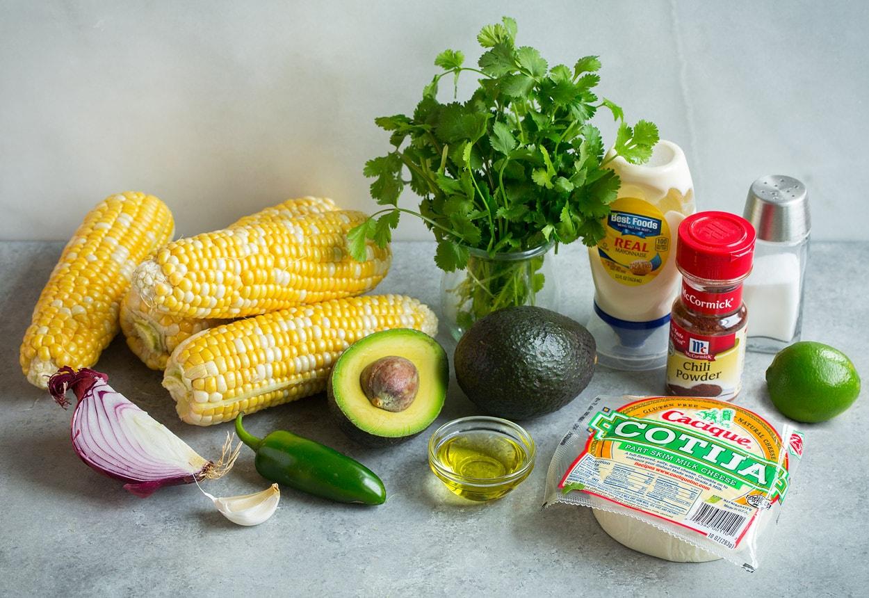 Mexican Street Corn Salad Ingredients