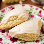 Petite Vanilla Bean Scones with Vanilla Bean Glaze | Cooking Classy